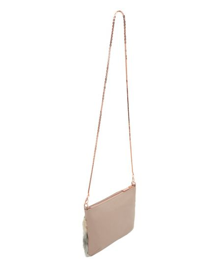 Ted Baker Emmia Shearling and leather cross body bag