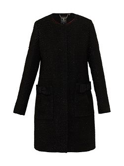 Tenzin Bouclé Bow Detail Coat