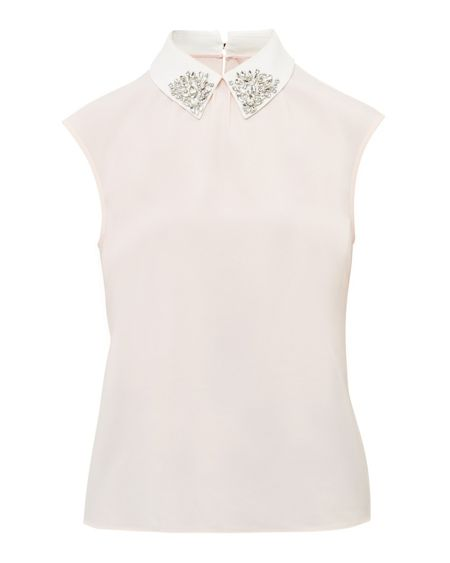 Ted Baker Edah Embellished Collar Top