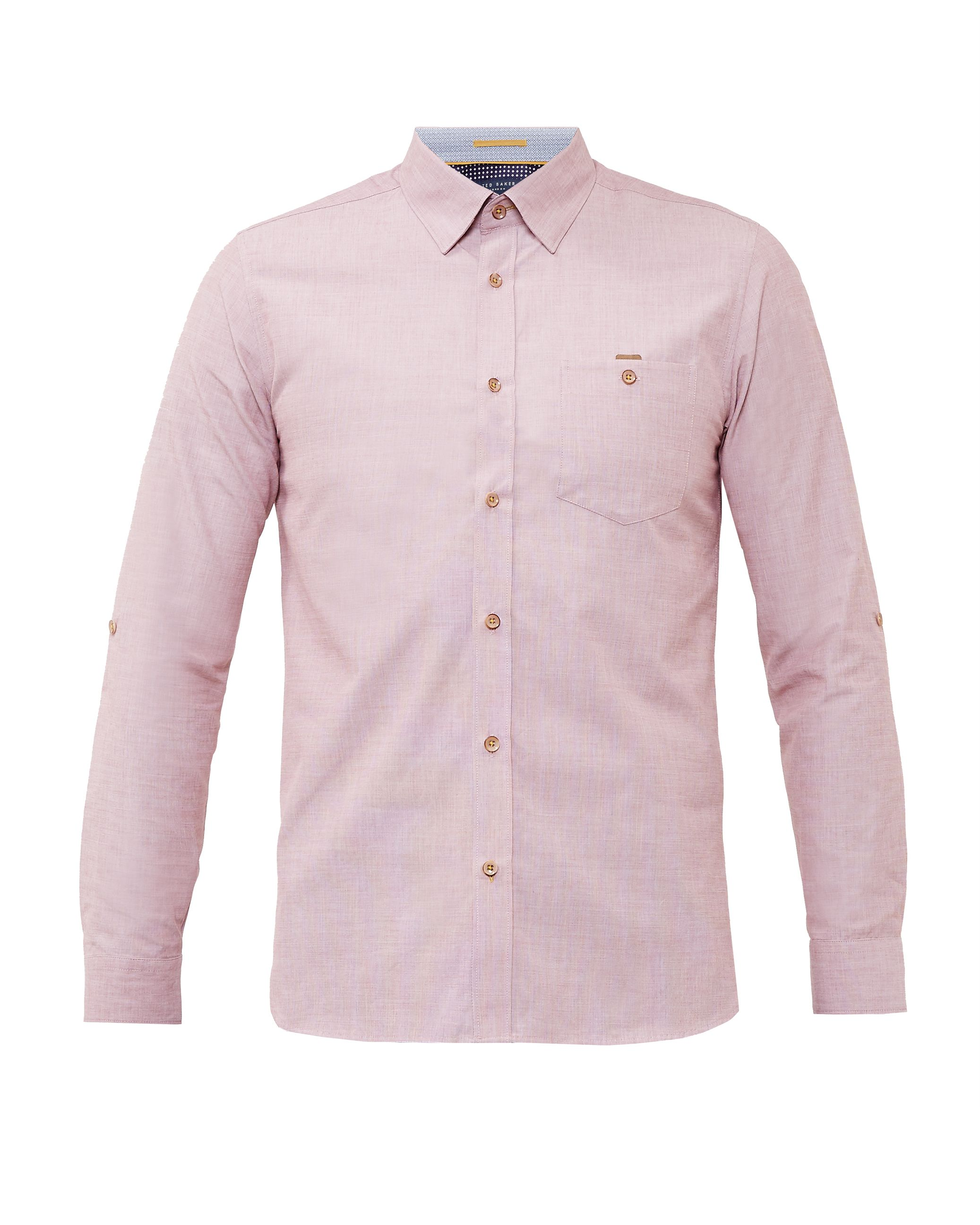 Mens Ted Baker Newway Cotton Shirt Red