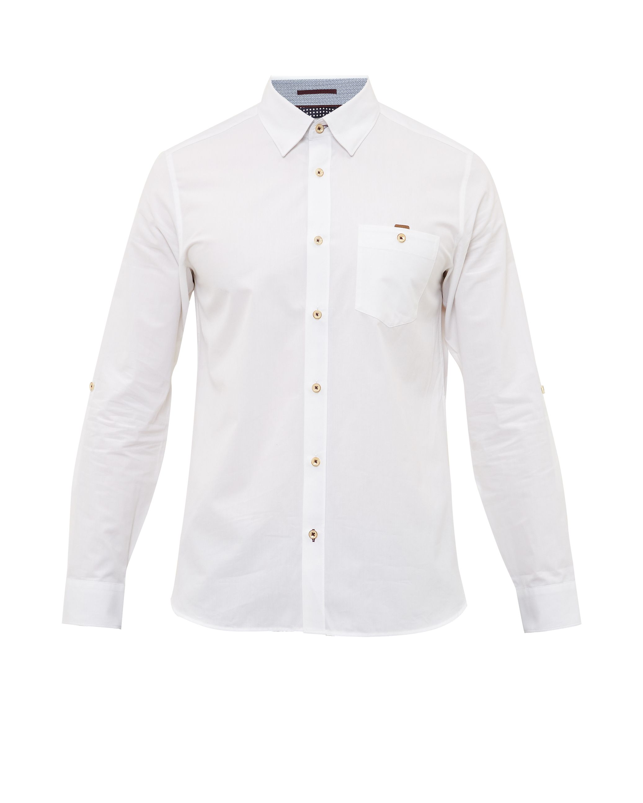 Mens Ted Baker Newway Cotton Shirt White