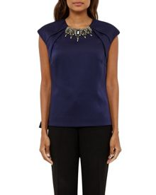 Ted Baker Shilia Embellished fold detail top