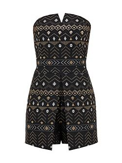 Eefa Deco Sparkle Bandeau Playsuit