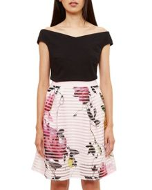 Ted Baker Osuza Citrus Bloom Mesh Skirt