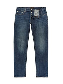 Steed Straight fit dark wash jeans