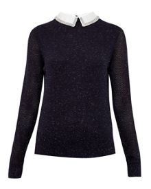 Ted Baker Longina Metallic Collar Jumper