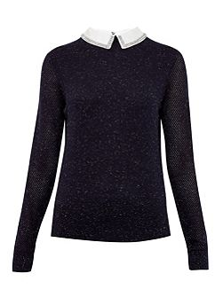 Longina Metallic Collar Jumper