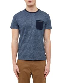 Ted Baker Motor Mouliné Cotton Crew Neck T-Shirt