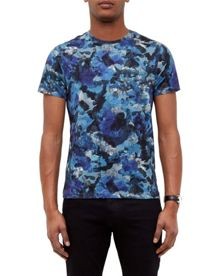 Ted Baker Ruben Camouflage Cotton T-Shirt