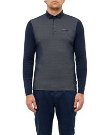 Ted Baker Opie Geo Print Cotton Polo Shirt