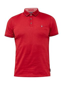 Clay Flat Knit Collar Polo Shirt