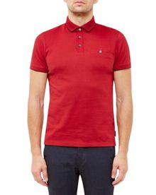 Ted Baker Clay Flat Knit Collar Polo Shirt