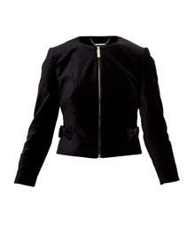Ted Baker Mifna Cropped velvet bow jacket