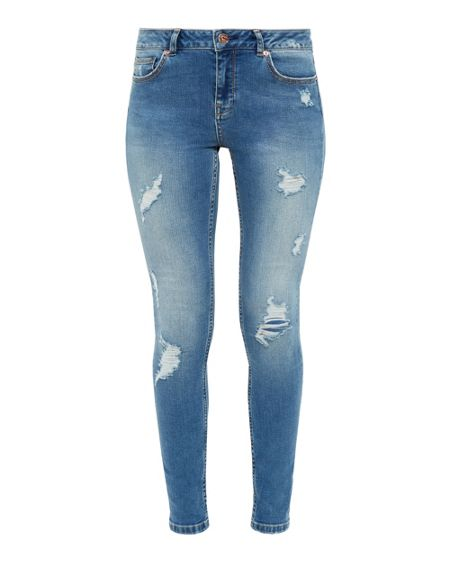 Ted Baker Kimle Ripped Skinny Jeans