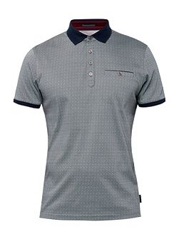 Prime Geo Print Cotton Polo Shirt