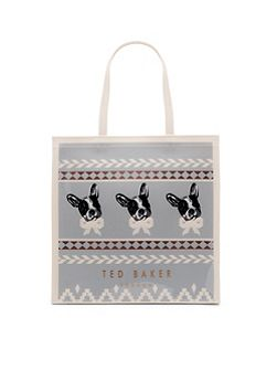 Dolcon Fairisle dog large shopper bag