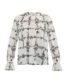 Ted Baker Weerah Floral High Neck Shirt