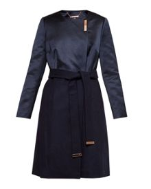 Ted Baker Emlyyn Waist belt collarless coat