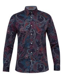 Ted Baker Shakle Paisley print cotton shirt