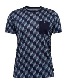 Ted Baker Roman Rectangular Print Cotton T-Shirt