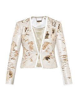 Zalee Metallic Sequin Jacket