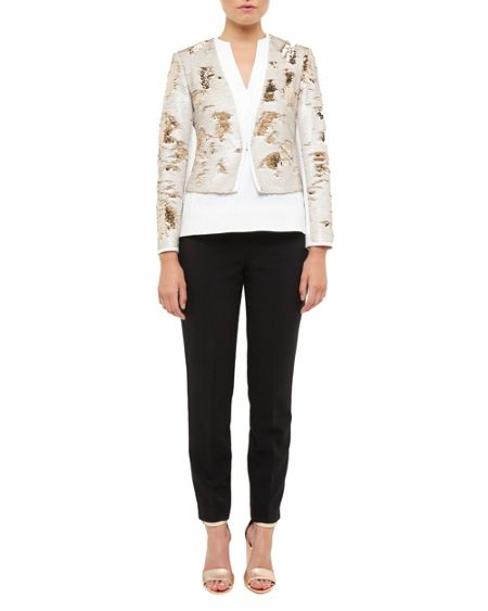 Ted Baker Zalee Metallic Sequin Jacket
