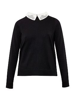 Miriah Embellished Collar Jumper