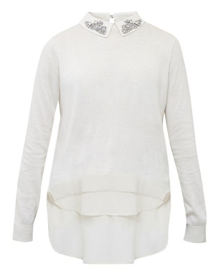Ted Baker Miriah Embellished Collar Jumper