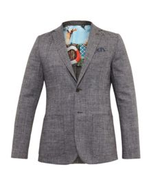 Ted Baker Grid Cross Hatch Linen Blazer