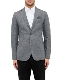 Ted Baker Hitchin Cotton And Linen-Blend Jacket