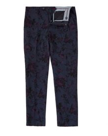 Ted Baker Flotro Floral Print Linen And Cotton Trousers