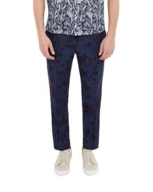 Ted Baker Flotro Floral Print Cotton Blend Trousers
