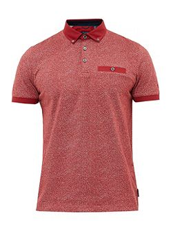 Teller Mouliné cotton polo shirt