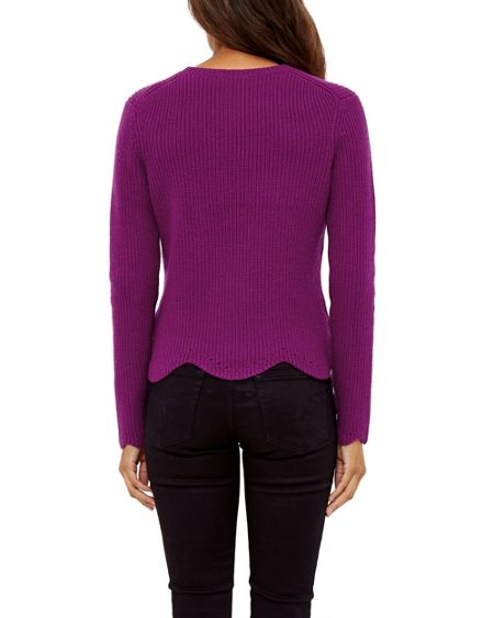 Ted Baker Finda Scalloped edge ribbed sweater