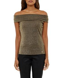 Ted Baker Tipah Bardot Glitter Top