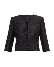 Ted Baker Malini Glitter bow cropped jacket