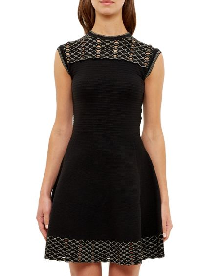 Ted Baker Tessai Knitted Sparkle Skater Dress