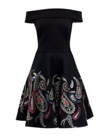 Ted Baker Adze Treasured Trinkets Bardot dress