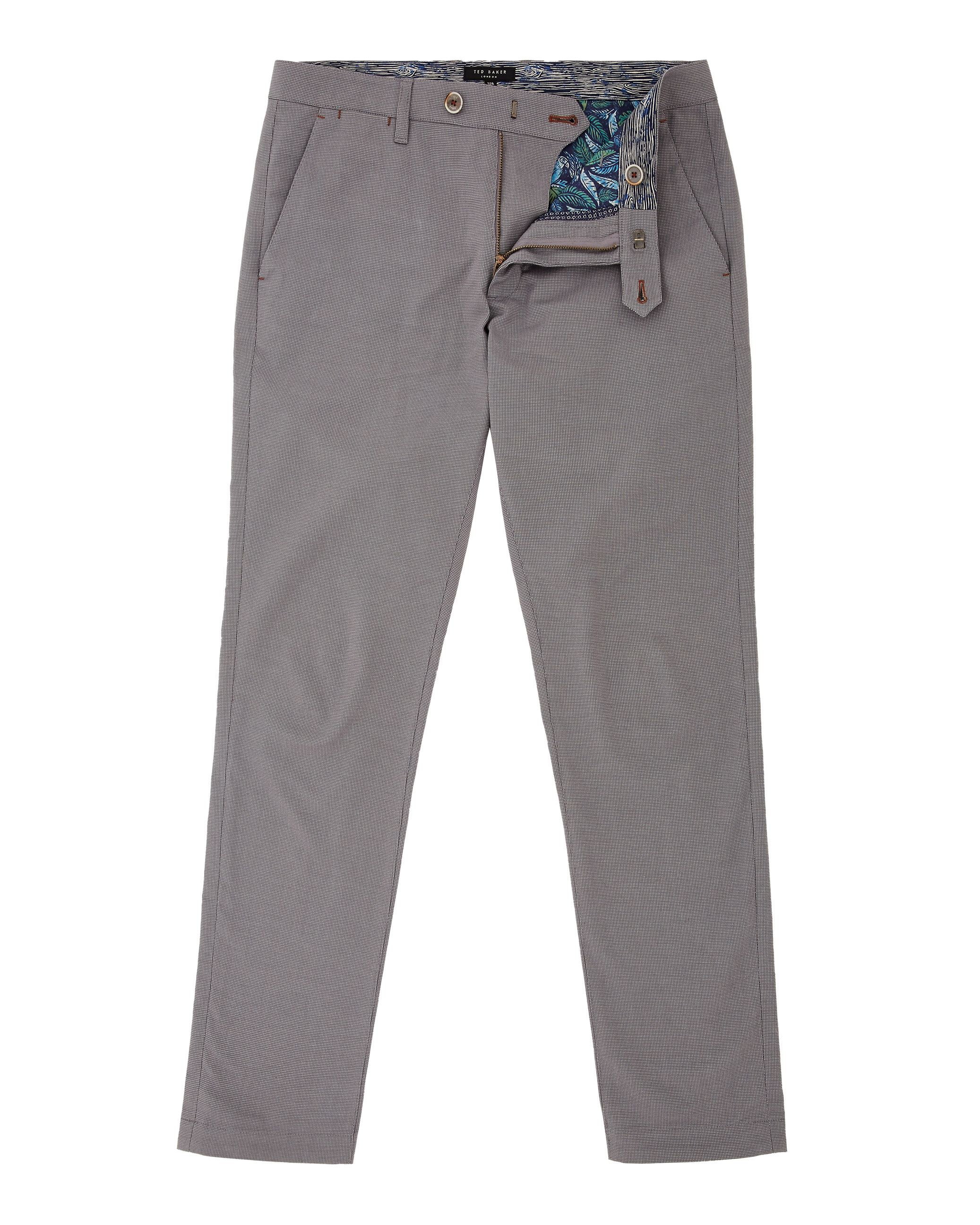 Mens Ted Baker Clydesy Mini Design Trousers Grey