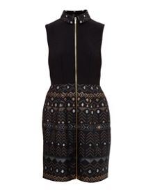 Ted Baker Dasia Deco Sparkle collared dress