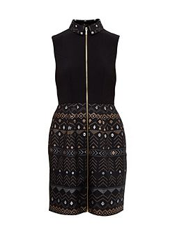 Dasia Deco Sparkle collared dress