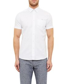 Ted Baker Palpin Cotton Blend Textured Shirt