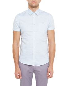 Ted Baker Palpin Cotton-Blend Textured Shirt