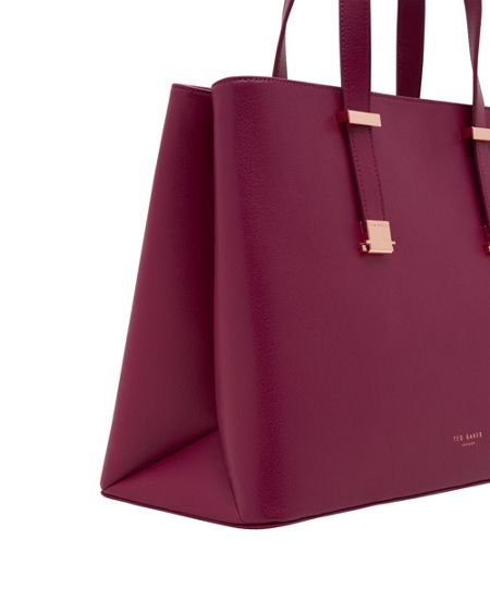 Ted Baker Alissaa Crosshatch Leather Tote Bag