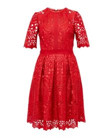 Ted Baker Avas Geo Lace full dress