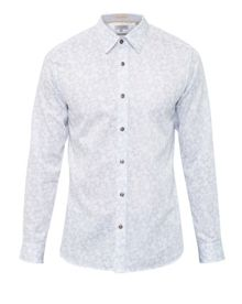 Ted Baker Twesta Faded Floral Print Cotton Shirt