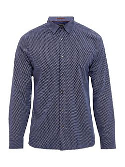 Werlwin Cotton geo print shirt