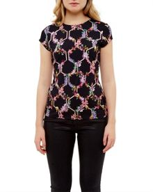 Ted Baker Dellila Lost Gardens fitted T-shirt