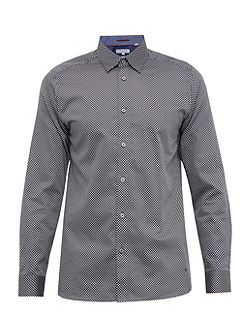 Tidal Geo print cotton poplin shirt