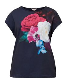 Ted Baker Zeana Blushing Bouquet woven T-shirt